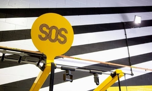 Image Of SOS Branded Medicine Ball Target Board